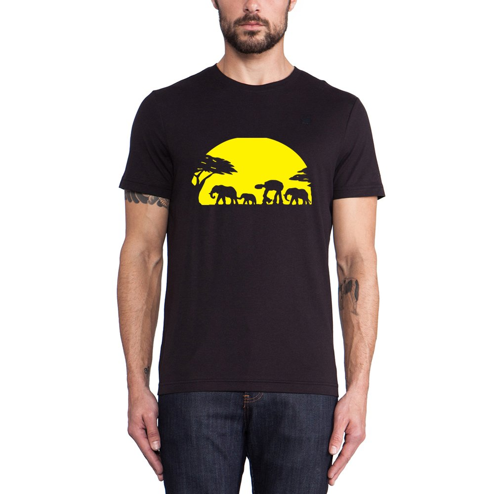 Loo Show Elephants And Imperial Walker Across African Safari Graphic T Shirts Tee