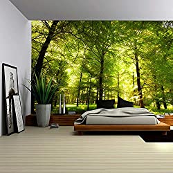 wall26 Crowded Forest Mural - Wall Mural, Removable Sticker, Home Decor - 66x96 inches