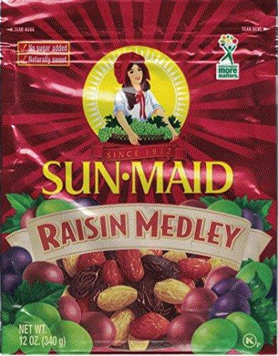 Sun Maid Raisin Medley 12 Ounce Pouch (Pack of 3)