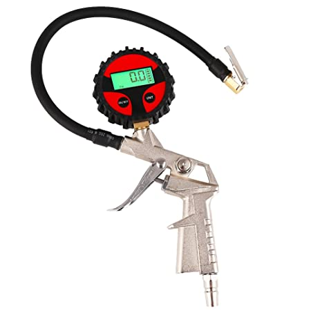 Medidor de presión de neumático del manómetro del manómetro del neumático del inflador de neumático de