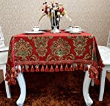 simple European-style tablecloths/Modern red chenille table cloth/ table cloth/ table cloth/ table cloth-A 150x220cm(59x87inch)