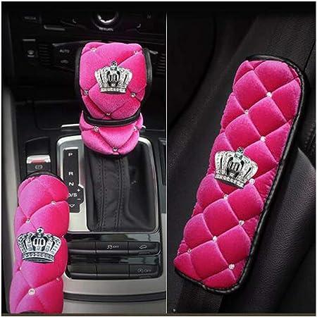 hot pink comfortable Seat belt cover black nice velvet material soft