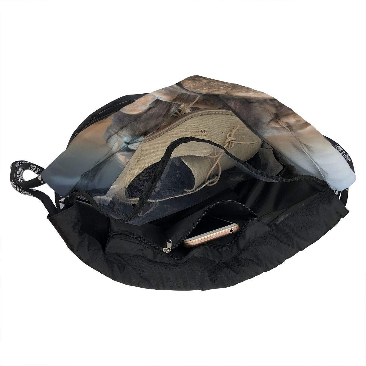 Portable Bundle Backpack Beautiful White Tigers Illustration Drawstring Bag For Girls /& Boys Gym Yoga Runner Sports Daypack