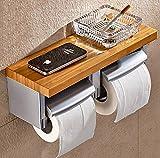 Retro Toilet paper holder,Bathroom Kitchen Punch-free Tissue box Household Toilet roll holder Toilet tray Toilet paper holder-A
