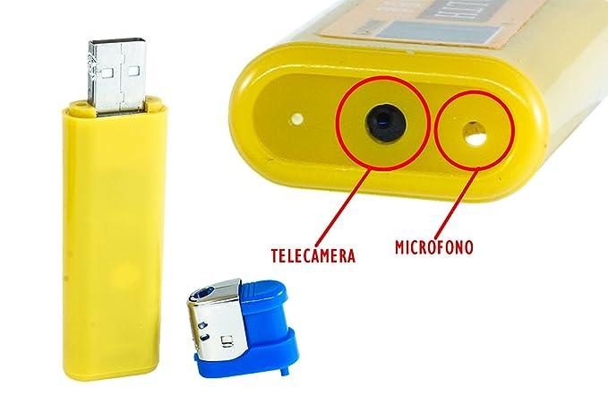 6 opinioni per Accendino Mini Cam Microspia Videocamera Nascosta Usb Spy Spia Audio Foto Video