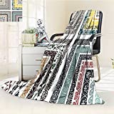AmaPark Digital Printing Blanket Retro Royal Islamic Authentic Ornate Figure and Lines Design Summer Quilt Comforter