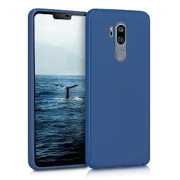kwmobile Funda para LG G7 ThinQ/Fit/One - Carcasa para móvil en TPU Silicona - Protector Trasero en Azul Marino