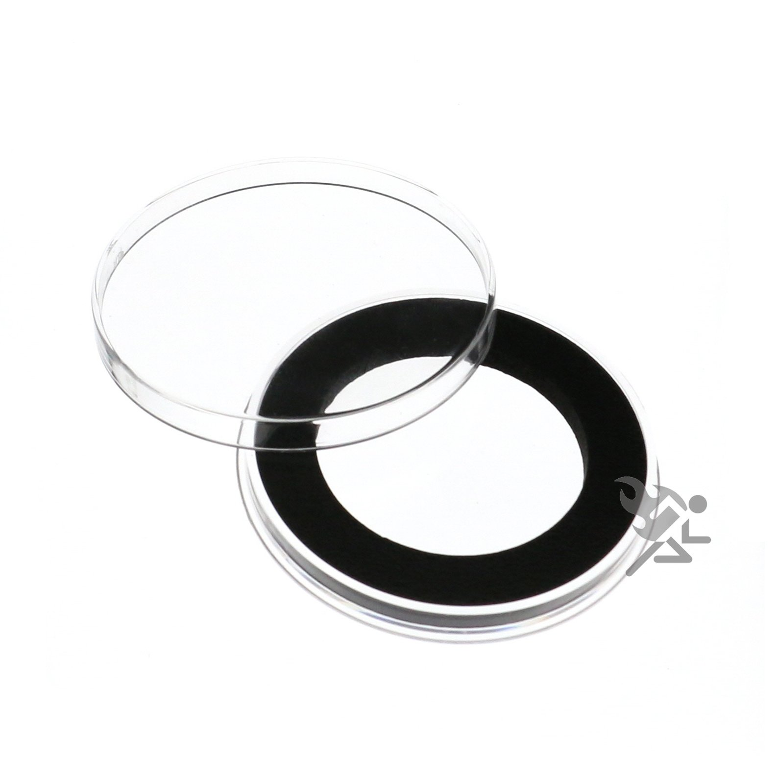 Y45mm Black Ring Air-Tite Coin Capsules for 1oz Lunar (Series 2), 5 Pack