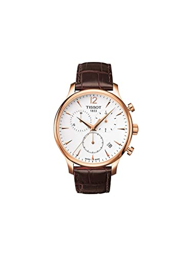 54d687c16 Mens Tissot tradition of classic Rose Gold Plated Chronograph Watch T0636173603700  Mens: Amazon.co.uk: Watches