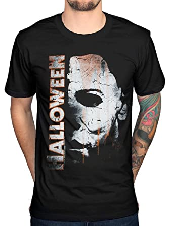 aad940fc Official Halloween Michael Myers Mask and Drips T-Shirt Horror Film Movie