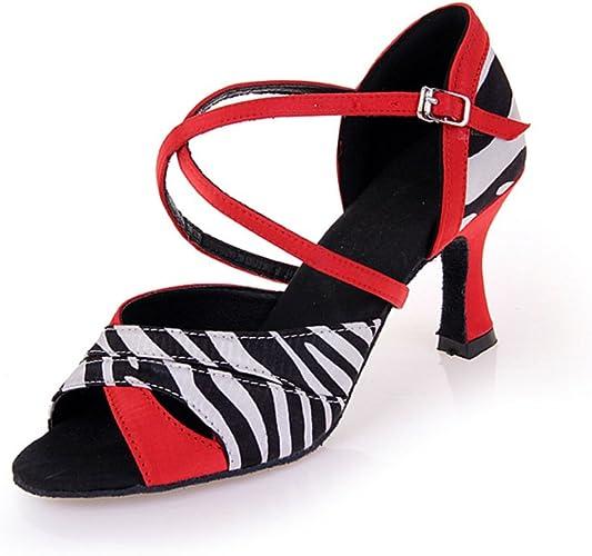 WYMNAME Womens Latin Dance Shoes,Dancing Shoes Social Dancing Shoes Sandal