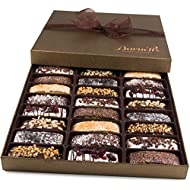 Barnetts Biscotti Cookies Gift Basket / Christmas Gourmet Holiday Chocolate Food / Unique Idea For Him or Her Corporate Gifts, Men Women Families Thanksgiving Valentines Fathers & Mothers Day Baskets