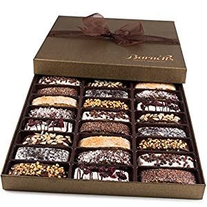 Barnetts Gourmet Biscotti Fathers Day Cookies Gift Basket/Prime Italian Chocolate Food/Unique Idea For Him or Her, Holiday Corporate Gifts for Man or Woman, Thanksgiving Christmas Baskets Delivery