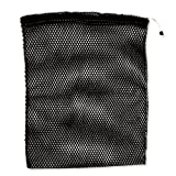 NYLON MESH STORAGE BAG 17''x22'' see-through and breathable with cinch rope closer