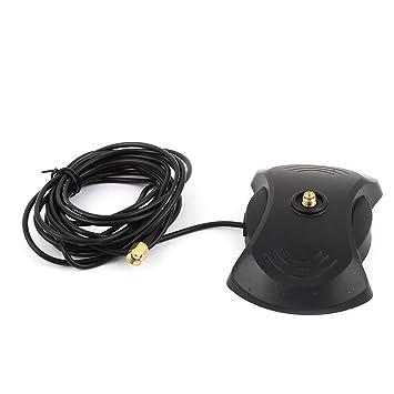 uxcell 3.0 m RP-SMA macho cable w Hembra coche imán GPS Base Conector de antena: Amazon.es: Informática