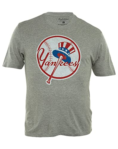 Amazon.com  Wright Ditson Major League Baseball Yankees T-shirt Mens ... bb440268a15