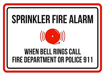 Amazon.com: Aspersor Fire alarma cuando suena Bell de ...