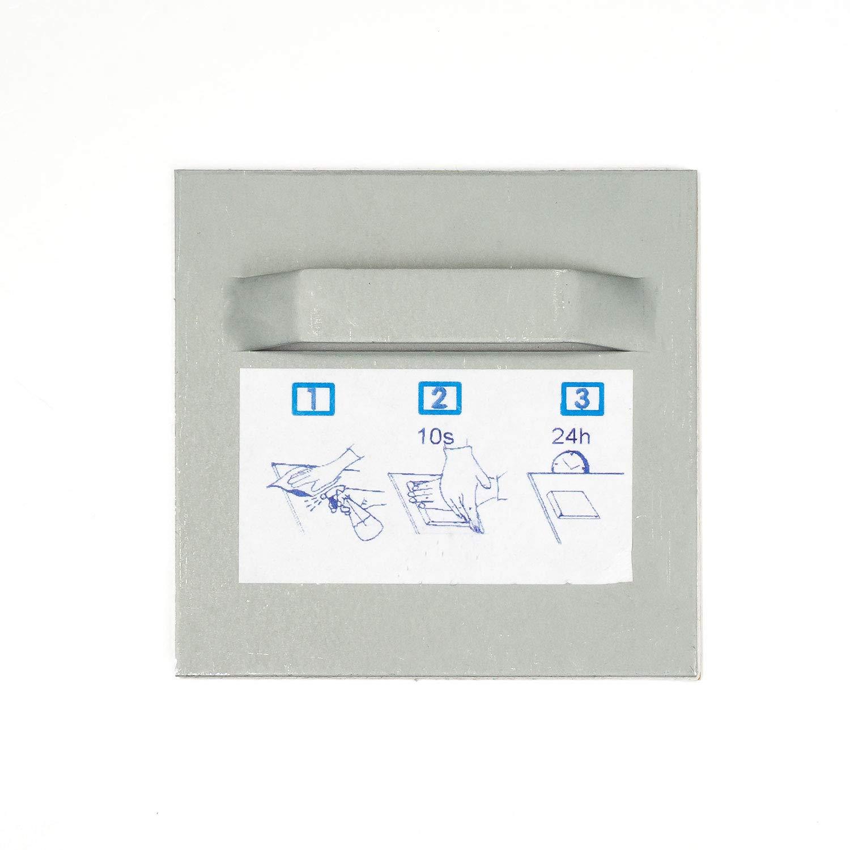 Set mit je 2x Bild-Halter 70x70mm /& Z-Haken Abstandhalter Glas Schild Bilder PVC
