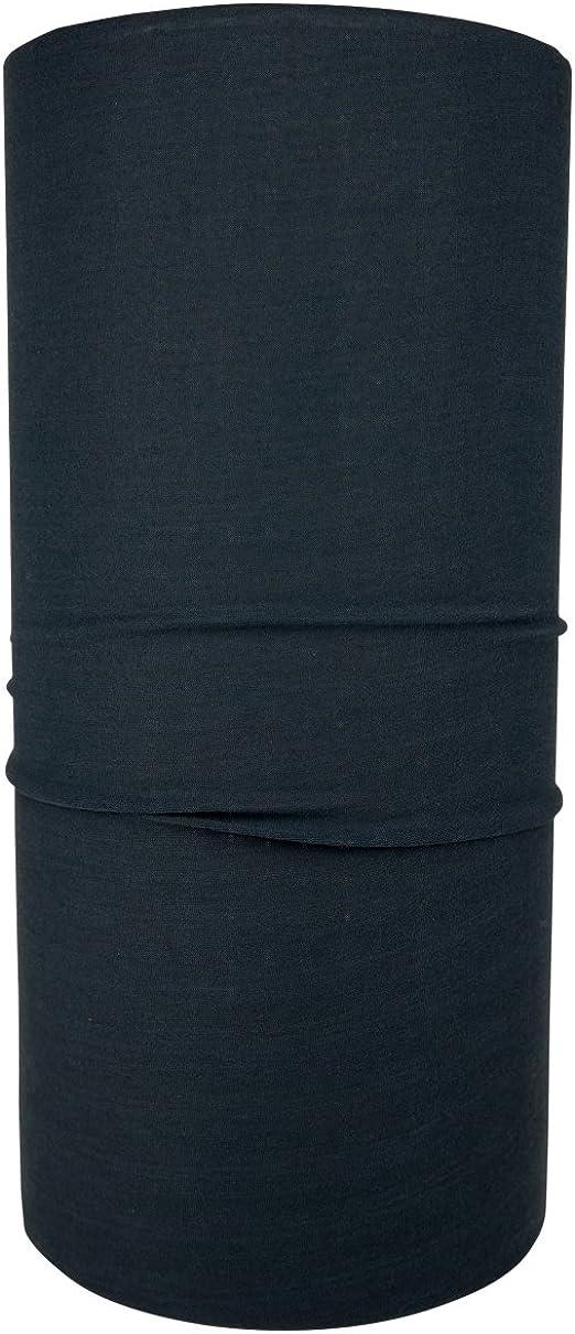 Hilltop Multifunktionstuch Halstuch Schlauchtuch Bandana Kopftuch Für Damen Und Herren Farbe Uni Anthrazit Bekleidung