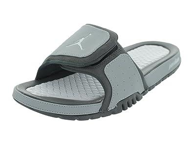 hot sale online 7fdf4 4b386 Amazon.com | Nike Air Jordan Hydro 2 Wolf Grey/White-Light ...