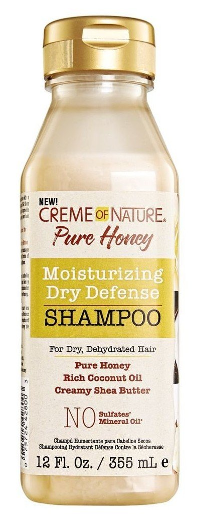Creme Of Nature Pure Honey Shampoo 12 Ounce (Dry Defense) (355ml) (6 Pack)
