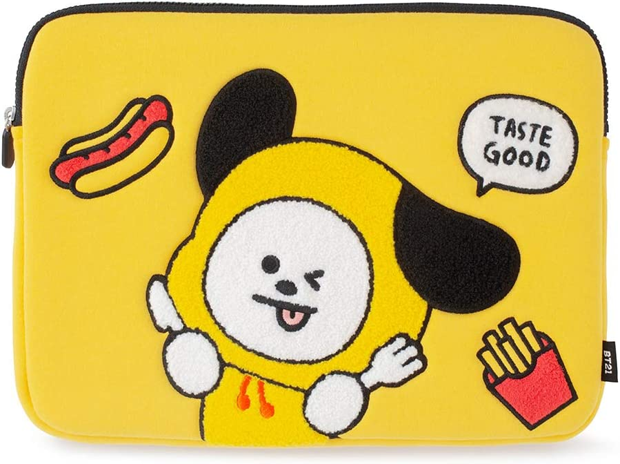BT21 Official Merchandise by Line Friends - CHIMMY Character Bite Ppogeul Laptop Sleeve 13""