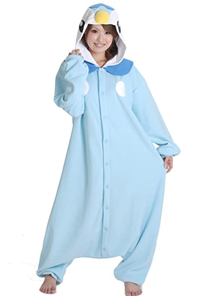 f2ec0fb7d887 Pokemon Piplup Onesie for Adults and Teens. Halloween Animal Kigurumi  Pajama Costume for Women