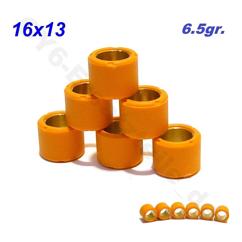 50-90ccm 4TAKT CHINA ROLLER GY6 .50-80cc /…139QMA 139QMB /… VARIOMATIK ROLLEN GEWICHTE SET 13x16 in 6.5gr 4-TAKT RACING