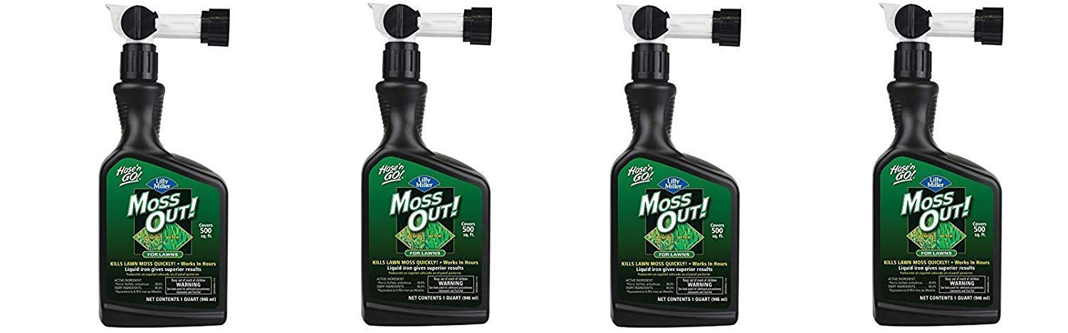 Lilly Miller Moss Out for Lawns Ready to Spray 32oz (4-(Pack))