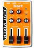 JUST MIXER Audio/DJ Mixer - Battery/USB Powered Portable Pocket Audio Mixer w/ 3 Stereo Channels (3.5mm) Plus On/Off Switch (Orange)