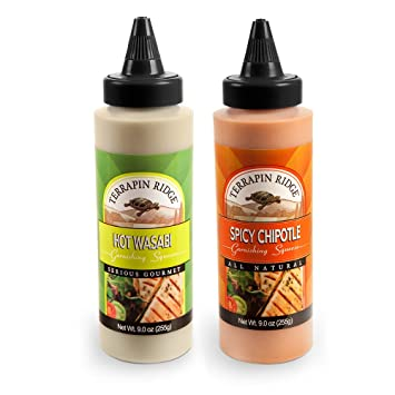 Terrapin Ridge Farms Spicy Garnishing Sauce 2 Bottles - All Natural & Gluten Free Gourmet Condiment