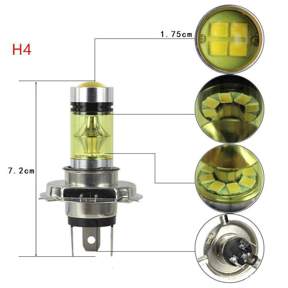 H1 H3 H4 H7 H8 H13 H16 20 SMD High Power 100w Super Bright Golden Bulbs Car Fog Light Running Light Lamps Car-Styling 12v H16