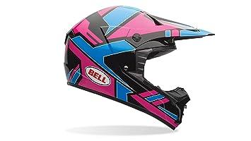 Bell Casco de motocicleta de 1, Adult Casco, color Azul/Rosa, talla
