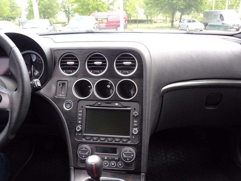 1 St/ück Platte Emblem Zubeh/ör Edelstahl Geb/ürstet Blenden Cockpit Dekor Mass Angefertigt 939 Interieur Stahlabdeckung f/ür Alfa/_Romeo 159 /& BRERA /& SPIDER