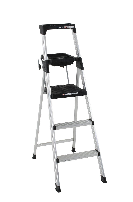 Cosco step stool chair - Cosco 20 552abl Lite Solution Aluminum Step Ladder 5 Foot Amazon Com