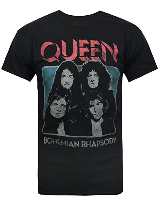 01b12f5491 Official Queen Bohemian Rhapsody Men's T-Shirt: Amazon.ca: Clothing ...