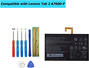 E-YIIVIIL L14D2P31 Replacement Battery Compatible with Lenovo Tab 2 A7600-F A10-70F Tab2 A10-70 A10-70L Tablet with Toolkit