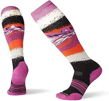 SmartWool Womens PhD Outdoor Light Pattern Crew Socks Pink White