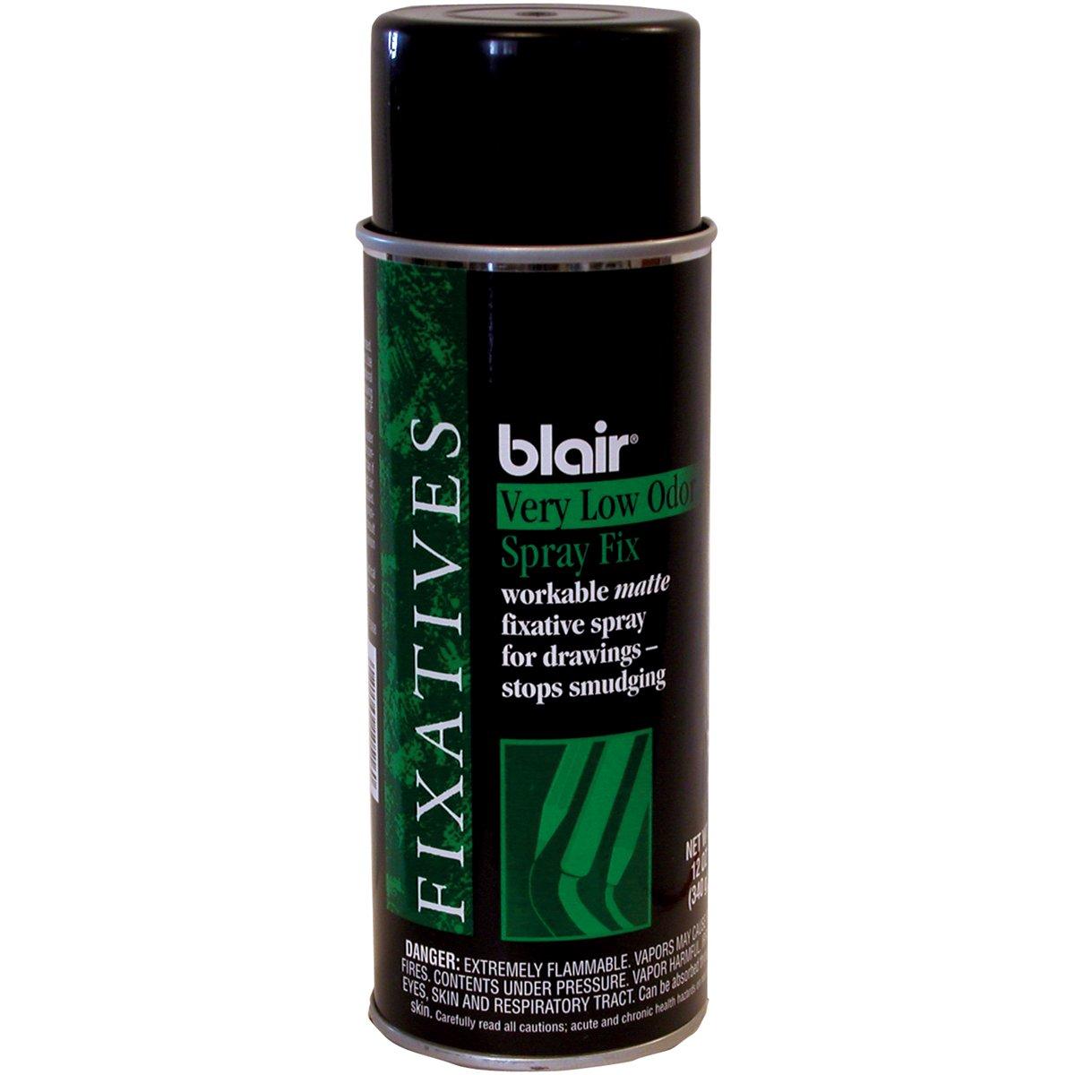 Blair Workable Very Low Odor Fixative Aerosol Spray-12oz Creative Art Materials