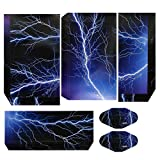 Saver Lightning Storm Skin Sticker Cover for PS4 Playstation 4 Console Blue Vinyl