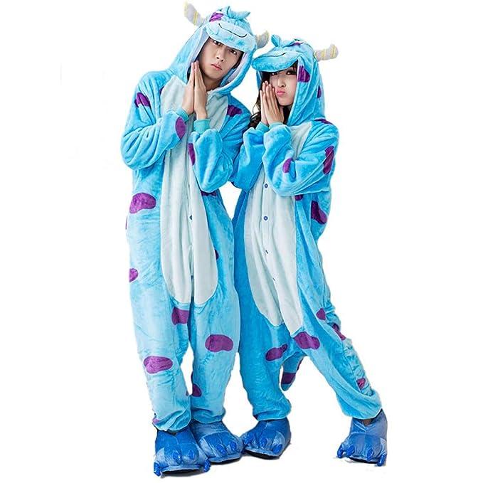 Kigurumi Pajamas-Unisex Sulley Onesie Halloween Animal Sullivan ...