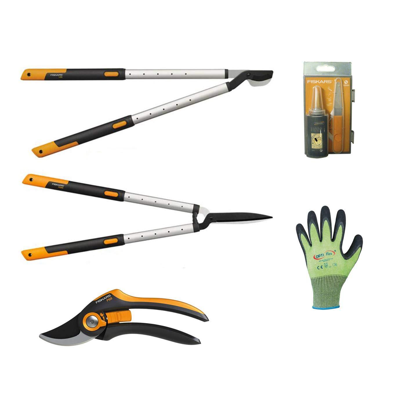 Fiskars Gartenpflege-SetSmartFit Set A L86 bestehend aus P68 HS86 Pflegeset und Handschuhe