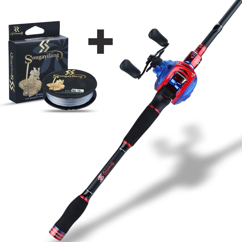 Sougayilang Fishing Rod and Reel Combo,Ultra Light Fishing Combos, Travel Fishing Poles and Reel Combos for Freshwater Fishing