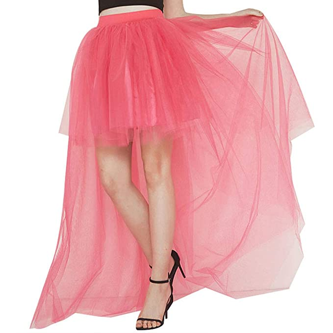Fahou Falda de tutú Mujer, de Cintura Alta, Plisada, mullida, con ...