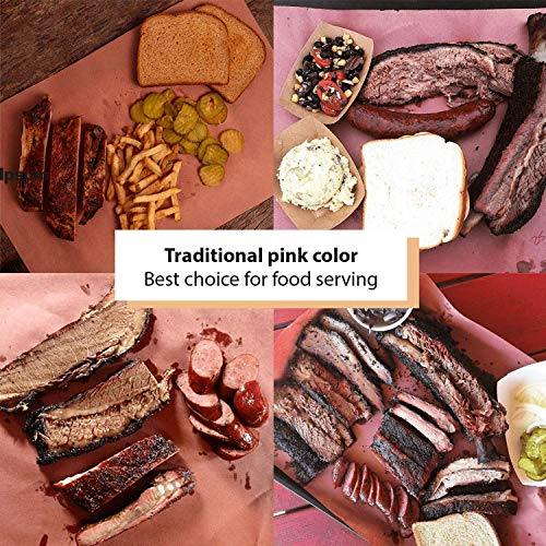 Butcher Paper Roll USA Made, Fda Approved, for BBQ and Meat Smoking. Natural Unbleached Paper by DIY Crew (Pink, 24''x200') by DIY Crew (Image #5)