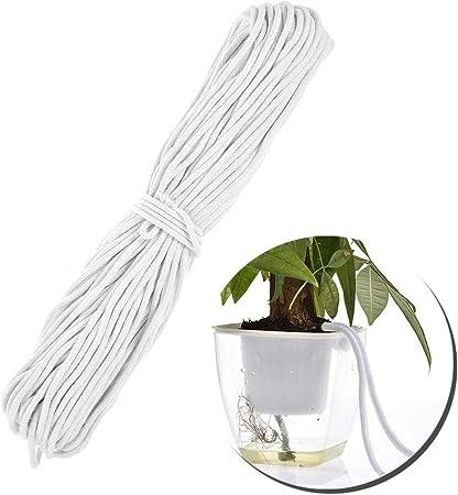 Raspbery 50M Tratamiento Riego por goteo Cuerda de algodón Absorción de cuerda Cordón de mecha de agua de algodón para plantas de interior astounding: Amazon.es: Hogar