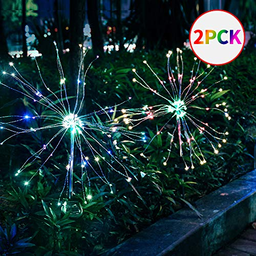 Subsistent Solar Garden Lights Outdoor,LED Stake Light Landscape Lighting LED Starburst Light for Garden/Yard/Lawn/Patio/Walkway/Driveway/Backyard (Colorful)