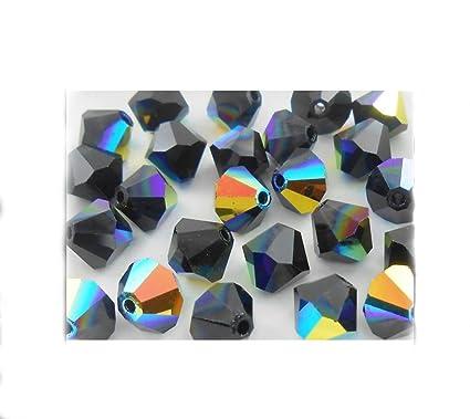 24f2ab9d0 Amazon.com: 100pcs x Preciosa Bicone Crystal Beads 6mm Jet AB Alternatives  For Swarovski #5301/5328#preb640: Everything Else