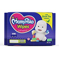 Mamy Poko Wipes with Green Tea Essence - Pack of 100 Wipes with Fragrance (100 Wipes)