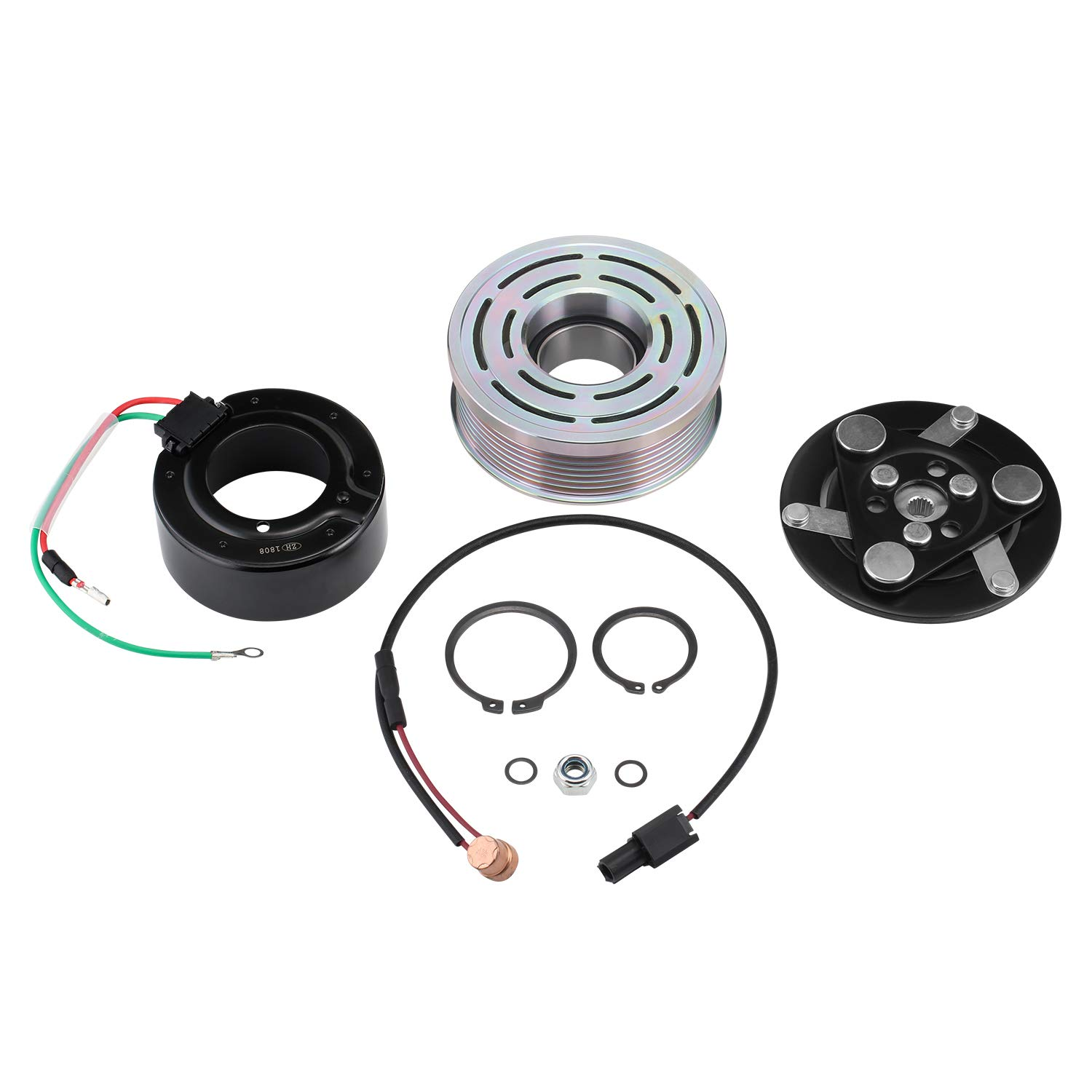 AC Clutch Kit Compressor Assembly Replacement for